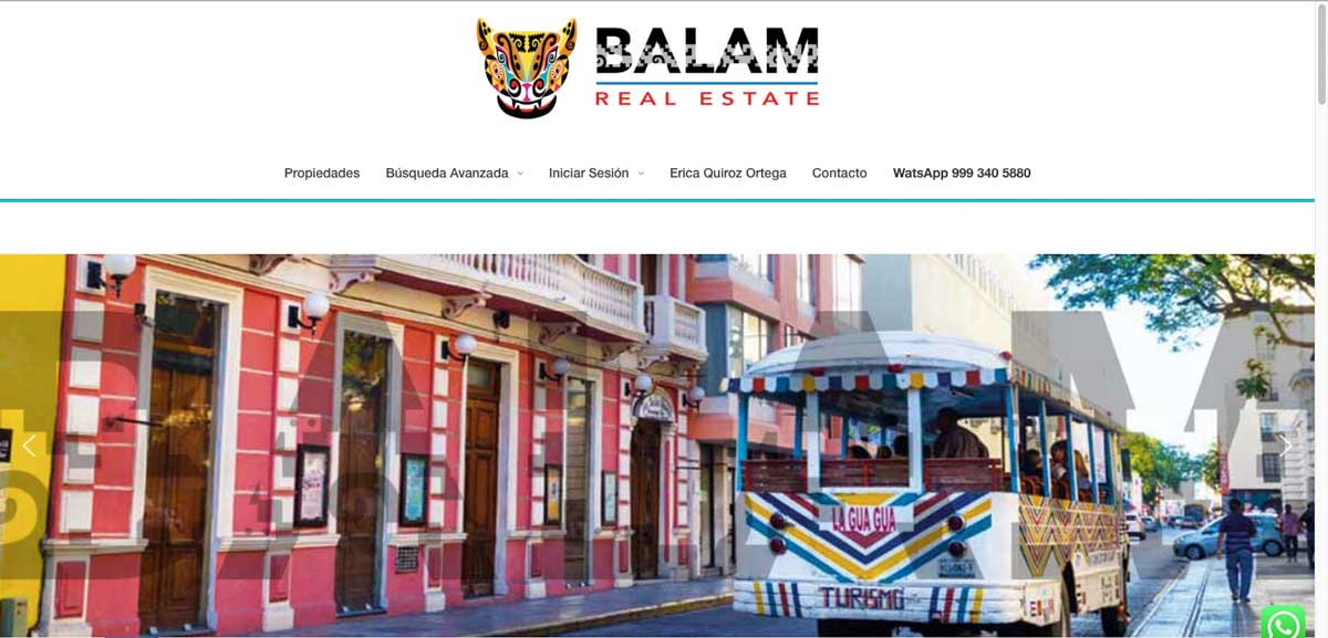 Sitio Web Balam Real States